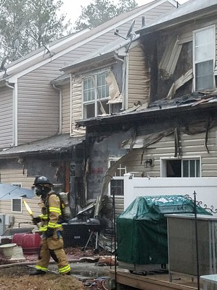 Townhomes damaged by fire
